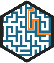 Small portion of a complex maze